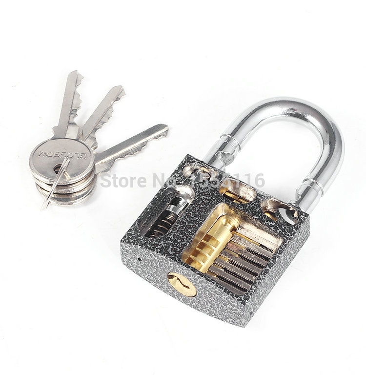 New Arrival Cutaway inside Lock view of practice padlock lock training skill lock цена 2017