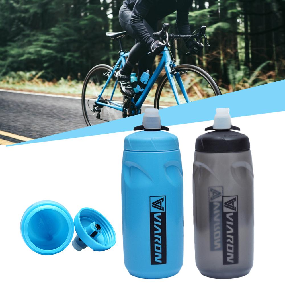 620ml Riding Squeeze Water Bottle Mountain Bike Rubber Nozzle Kettle Outdoor Riding Portable Safety Water Bottle