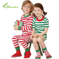 Children's Set Christmas Clothing Set Round Neck Casual Autumn and Winter Girls /Boy Suit Striped Long-Sleeved T-Shirt + Pants