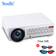 NewPal Projektor 3000 Lumen LED Projektor in Android4.4 WIFI Bluetooth AC3 Full HD 1080 P Video Media Player 3D Beamer