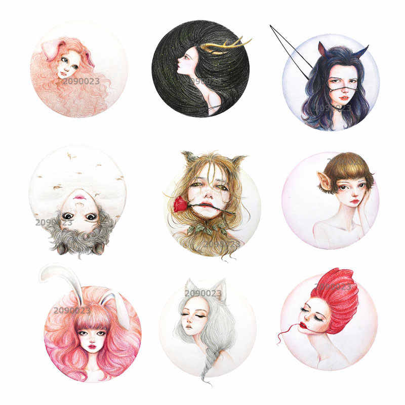 1 PZ Personaggio Dei Cartoni Animati Distintivo Kawaii No-face Uomo Spilla Harajuku Acrilico Pin Badge Cartoon Zaino Spille