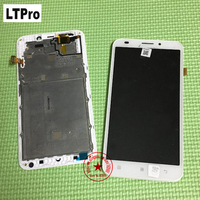 Best Quality Tested Work White Full Glass Sensor LCD Display Touch Screen Digitizer Assembly With Frame