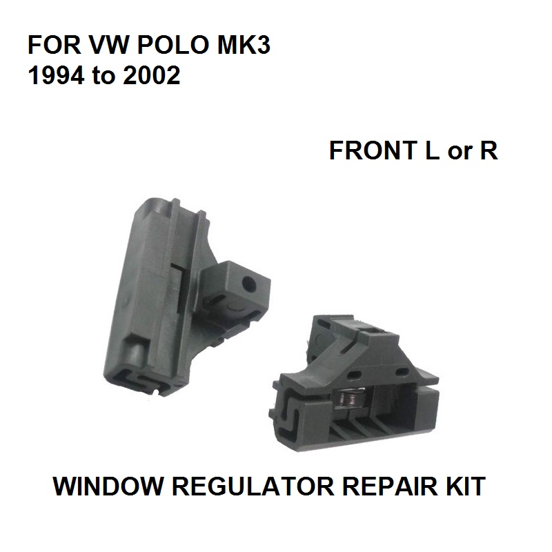 X2 WINDOW REGULATOR REPAIR CLIPS FOR VW POLO MK3 WINDOW REGULATOR REPAIR KIT FRONT-LEFT NEW 1994 To 2002