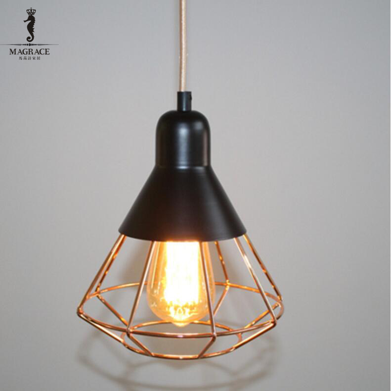 New Arrievd Modern Industrial Retro Iron Loft Style Pendant Light for Hallway Bar Cafe Shop Vintage Droplight E27 Hanging Lamp hot sale retro iron pendant light loft industrial style vintage cages hanging lighting bar cafe study restaurant e27 lamp holder