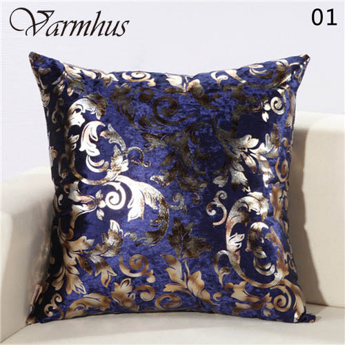 Varmhus European Style Fashion Luxury Shiny Glitter Sequins Pillow Case Modern Velvet Square 45cmX45cm For Home Decor