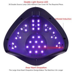 Image 4 - SUN5X artı 108W UV LED lamba tırnak kurutucu LCD ekran tırnak lambası kür tüm jel lehçe manikür makinesi çivi için