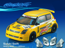 1set Swift 1/10 1:10 M car PC body shell 225mm wheelbase Transparent clean no painted drift for RC CARTEN
