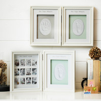 Baby Commemorative Gift Photo Frame Hand And Foot Print