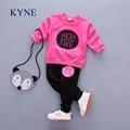 Batwing Coat Girls Clothing Sets Kids Clothes T Shirt +Pants Baby Kids Cute Cartoon Suits Children ClothesTops Suit