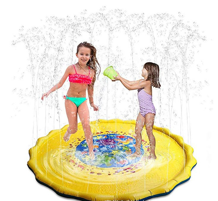 100CM Summer Children Water Beach Spraying Cushion Baby Play Water Mat Games Beach Outdoor Tub Swiming Pool Spray Water Toy Lawn