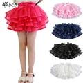 Tulle Fluffy Children Girls TuTu Skirts Girl Dance skirts With Satin Ribbon Bowknot Princess Layered skirt Bubble Skirt 3-14Y