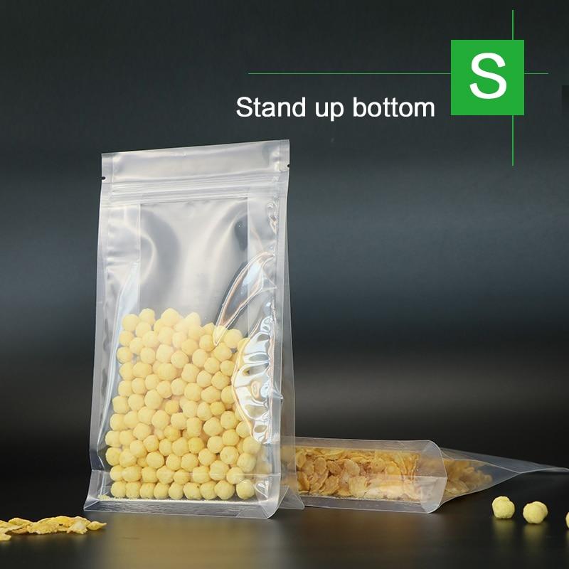 blocco fondo stand up sacchetto con cerniera in plastica trasparente - Organizzazione e deposito in casa - Fotografia 4