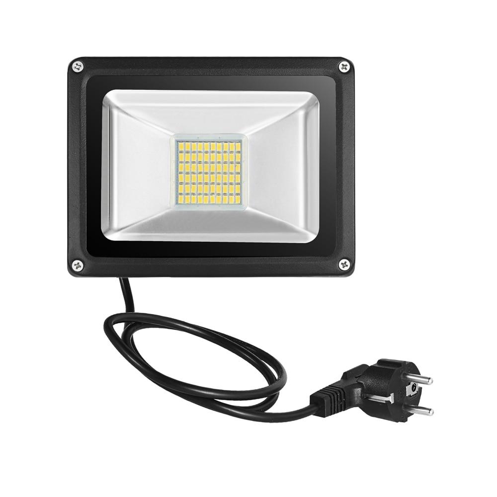 Us 18 99 24 Off Kaigelin Led Flood Light 30w 220v Outdoor Lighting Refletor Eu Plug Spotlights Floodlight Projector Exterior Street Lamp In