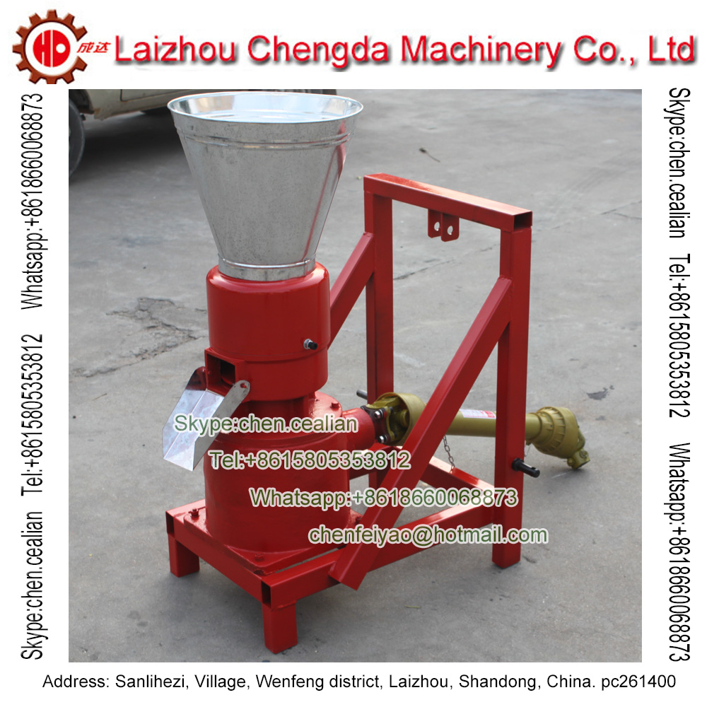 MKL229P PTO Roller Driven Biomass Wood Sawdust Pellet Mill Used By Tractor