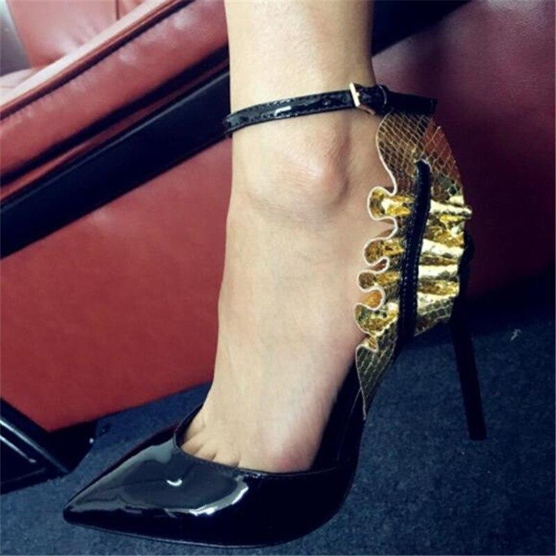 Nouveau Chaussures Stilettos Noce Pointu Sexy De As Marée Pompes Couleur Dames Show Designer Super Femmes Mixte Bout Femme Talons Haute rSCwrRq
