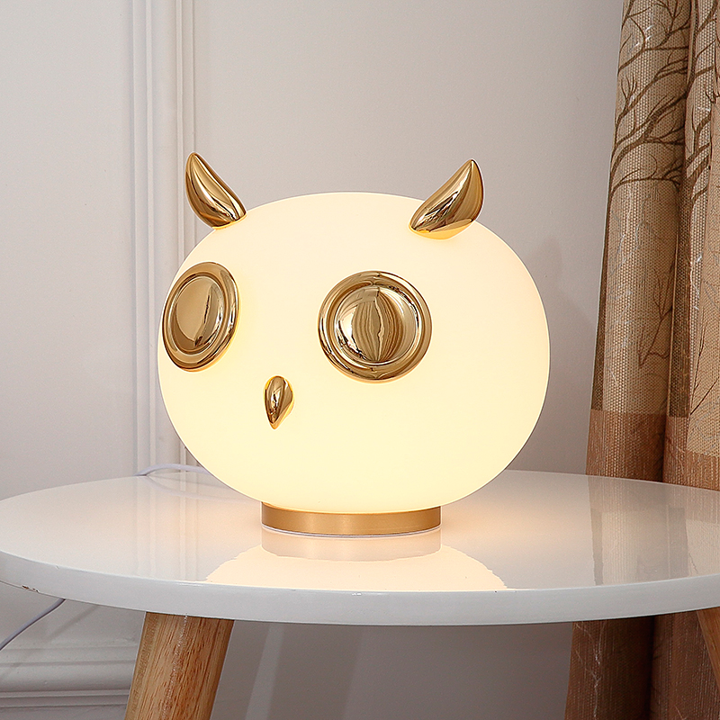 JAXLONG Creative Cartoon Animal Nordic Home Decor Lighting Table Lamp Bedroom Desk Lamp Bedside Warm Table Light Study Luminaire|LED Table Lamps| |  - title=