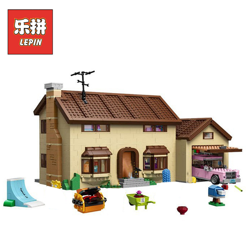 In Stock DHL Lepin Sets 16005 2575Pcs Movie Figures Simpsons House Model Building Kits Blocks Bricks Educational Kids Toys 71006 lepin movie figures 16005 2575pcs the simpsons house model building kits blocks bricks educational kid toy compatible with 71006