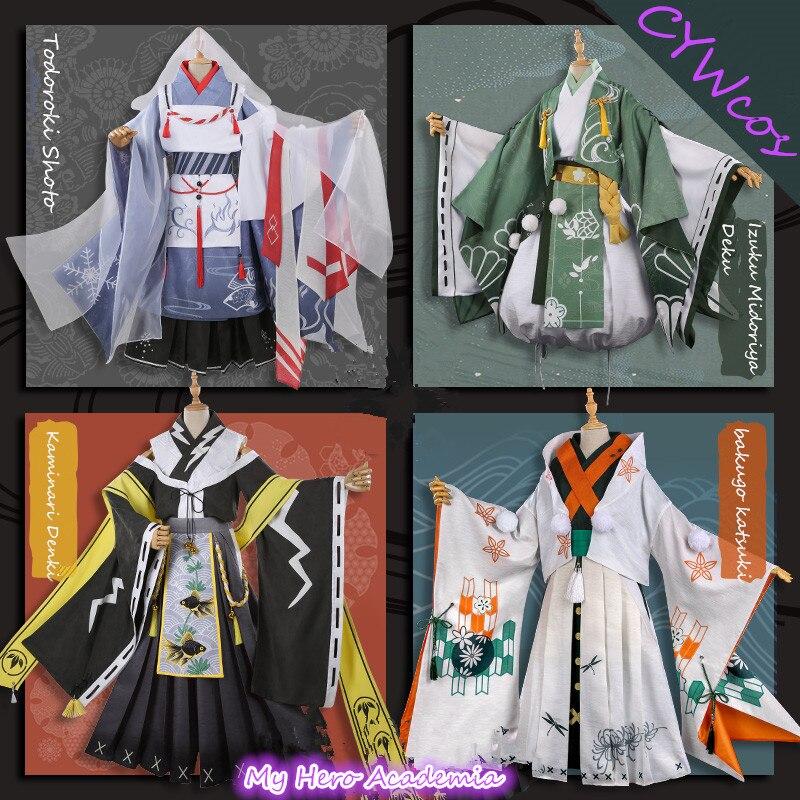 Baku no My Hero Academia Todoroki Shoto Bakugou Katsuki Kimono Cosplay Costume