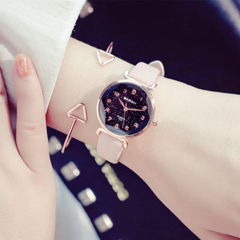 Luxury Brand Ulzzang Women Watches Starry Quartz Watch