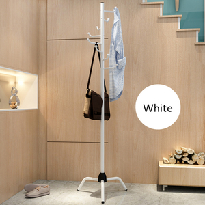 Image 4 - Coat Rack Clothes Tree Clothes Hat Tree Rack Free Standing Simple Fashion Hat and Coat Stand with 8 L Shaped Hooks Tripod Base