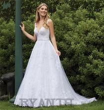 Женское кружевное свадебное платье it's yiiya белое трапециевидной
