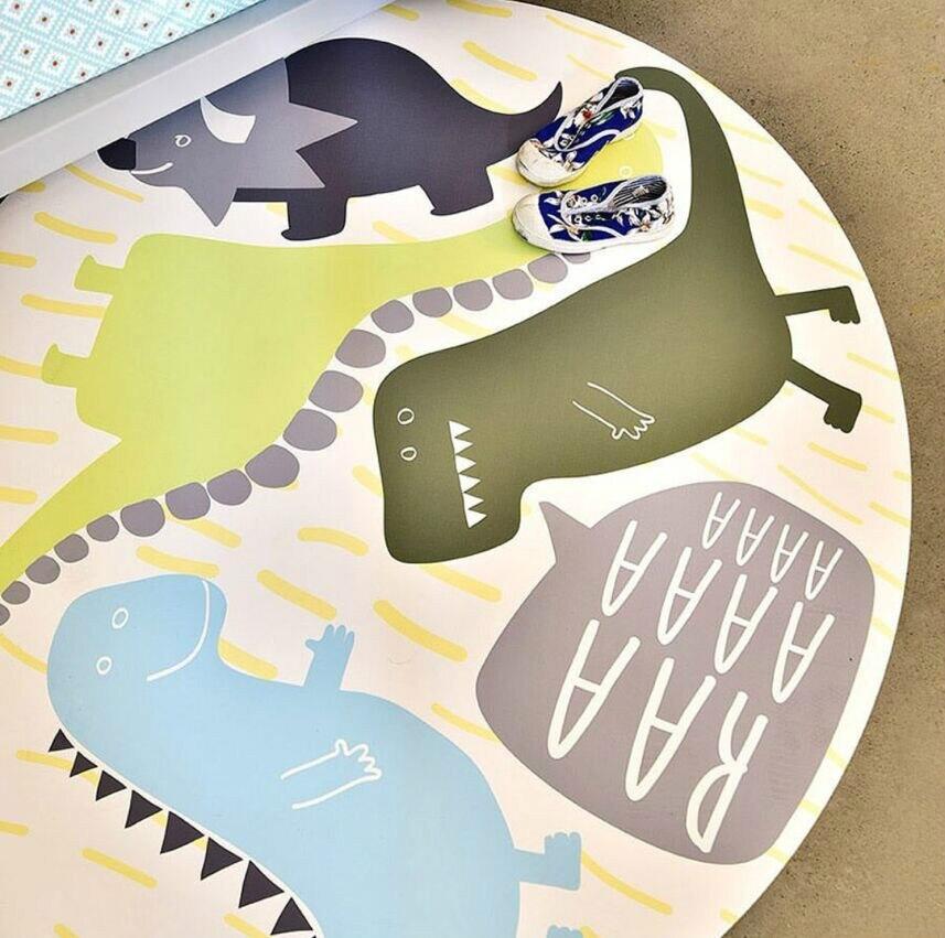 Nouveau bébé tapis tapis de jeu dessin animé dinosaure Infantil 1 cm épaisseur mousse Puzzle tapis enfant en bas âge ramper tapis de jeu couverture pour bébé