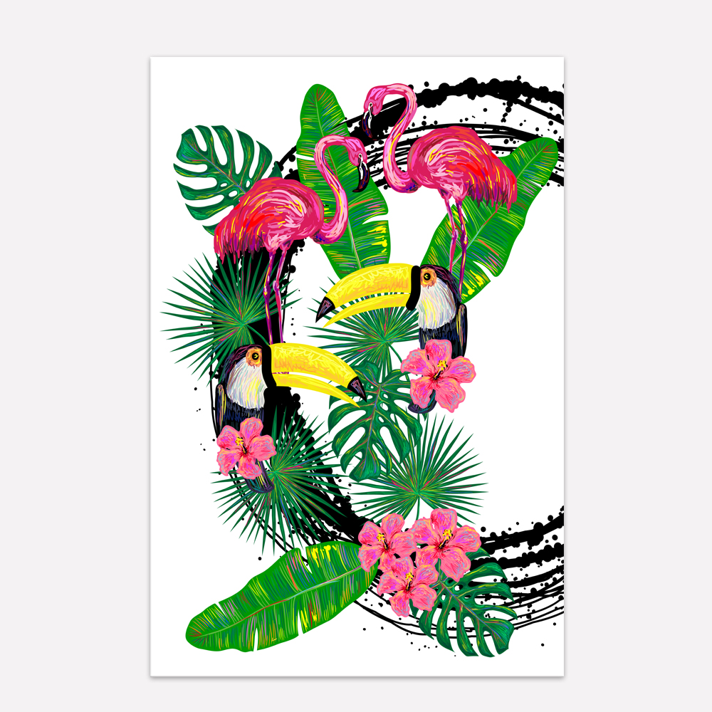 Visual Art Decor Tropical Scenery Wall Tocan Parrot Bird Pictures Abstract Animal Canvas Prints 1 Piece Bedroom Decoration In Painting Calligraphy