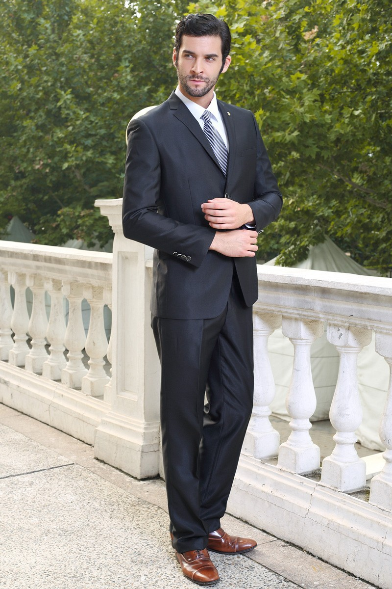 bruce] 2015 new men's business casual suit wedding suit groom ...
