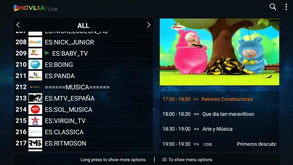 Испании IP ТВ 12, канал русский M3u Suscripción IP ТВ Android M3u Смарт ТВ