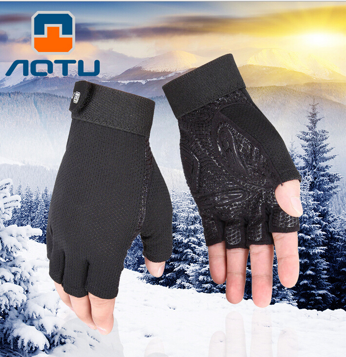 AOTU New Summer Half Finger Cycling font b Gloves b font Bicycle Luvas Para Breathable Guantes