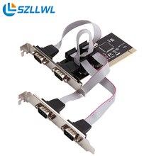 Hihg качество PCI в последовательный порт RS232 COM 4 последовательный порт 9-контактный настольных PCI ПЛАТЫ расширения адаптер добавить на карту
