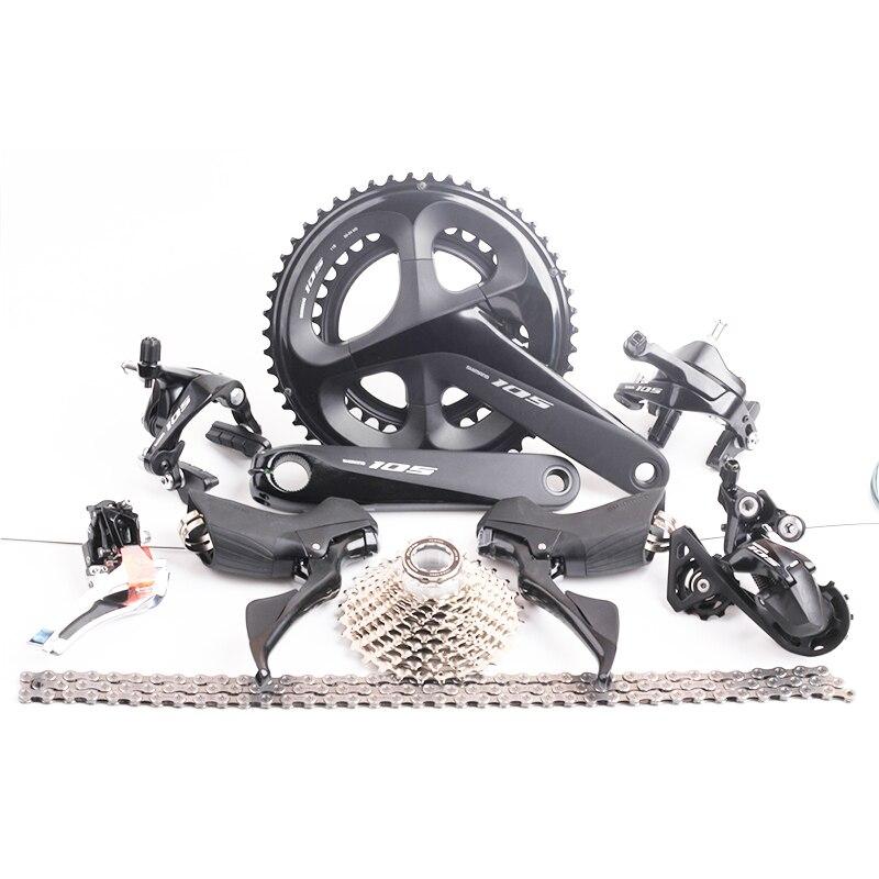 2018 Mais Recente Bicicleta de Estrada Groupset Shimano 105 R7000 2x Velocidade 50x34 22 11s s 170 milímetros shifter Switch/Crankset/Desviador/cassete