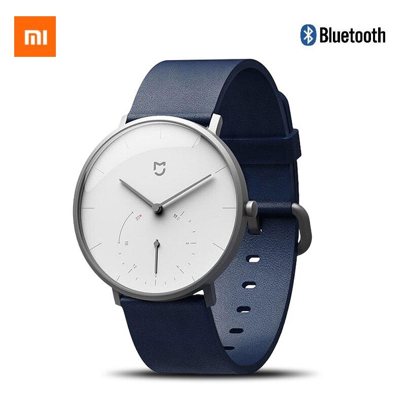 Montre à Quartz intelligente d'origine Xiao mi mi jia podomètre étanche Bluetooth 4.0 mi Smartwatch temps d'étalonnage automatique mi bande