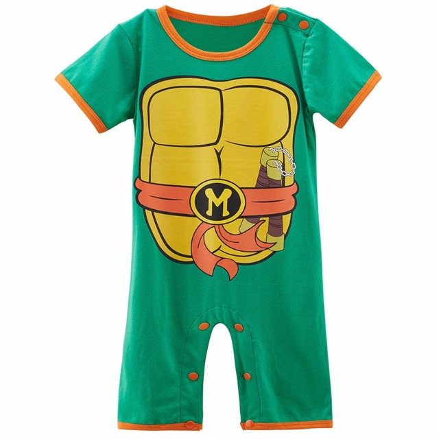 Baby Boy Ninja Turtle Costume Romper Infant Teenage Mutant Funny Jumpsuit  sc 1 st  AliExpress.com & Baby Boy Ninja Turtle Costume Romper Infant Teenage Mutant Funny ...