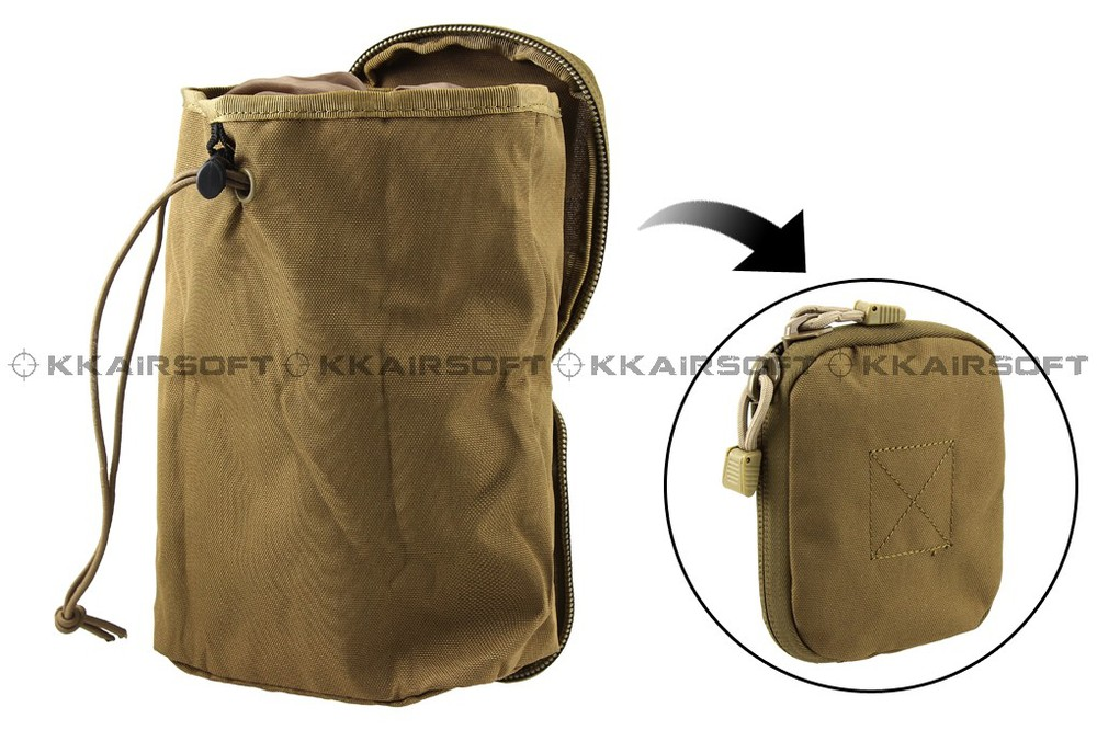 MOLLE tool bag invisible debris recycle bag (Coyote Brown) bd8510