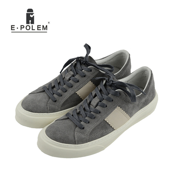 Genuine Suede Leather Mens Shoes Leisure Flat Spring Summer Casual Flat Shoes Lace up Soft Breathable New Men Fashion Shoes