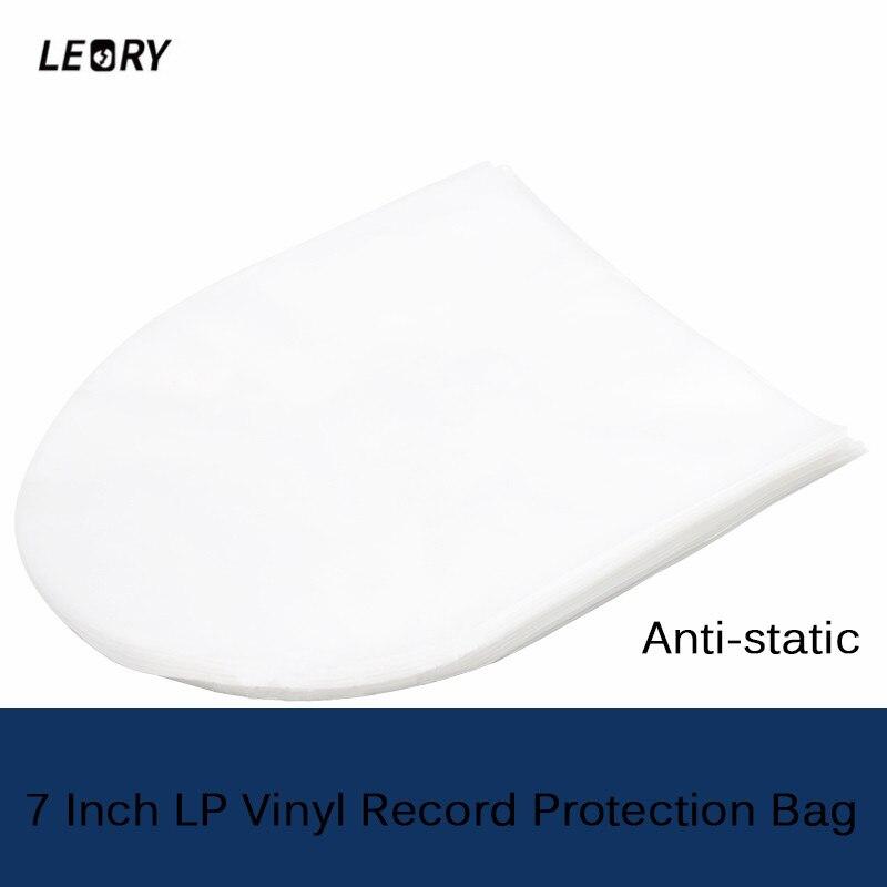 LEORY 50 stücke 7 zoll 17,8 cm * 18,6 cm Antistatischen Lp Schutz Lagerung Inneren Tasche für Plattenspieler Vinyl CD
