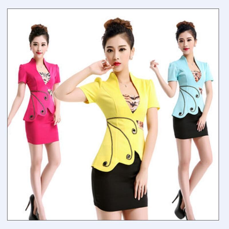 2015 new arrival autumn business women suits vest and for Office uniform design 2014