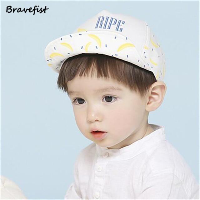 a2e575ae0d00 Cute Baby Hat For Kids Boy Girl Adjustable Baseball Cap Banana Style ...