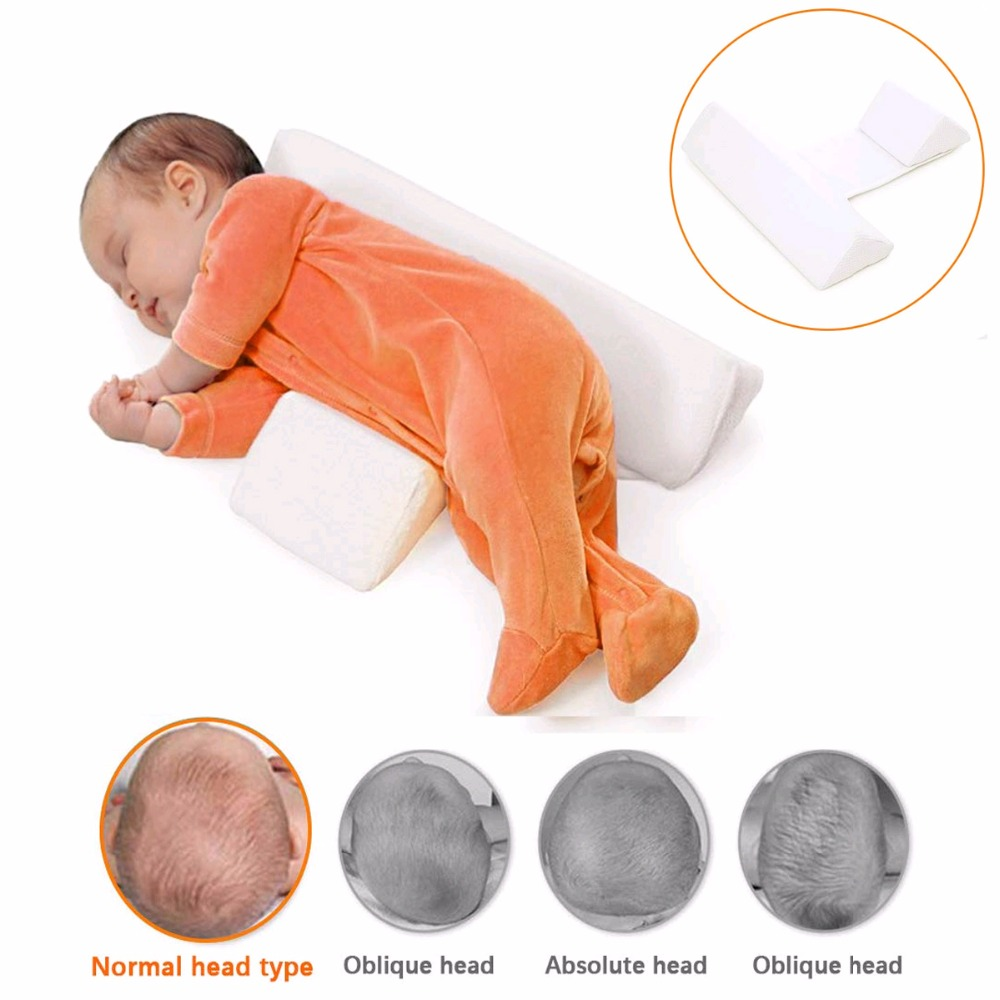Higher Quality Cotoon Infant Baby Anti Roll Pillow Sleep