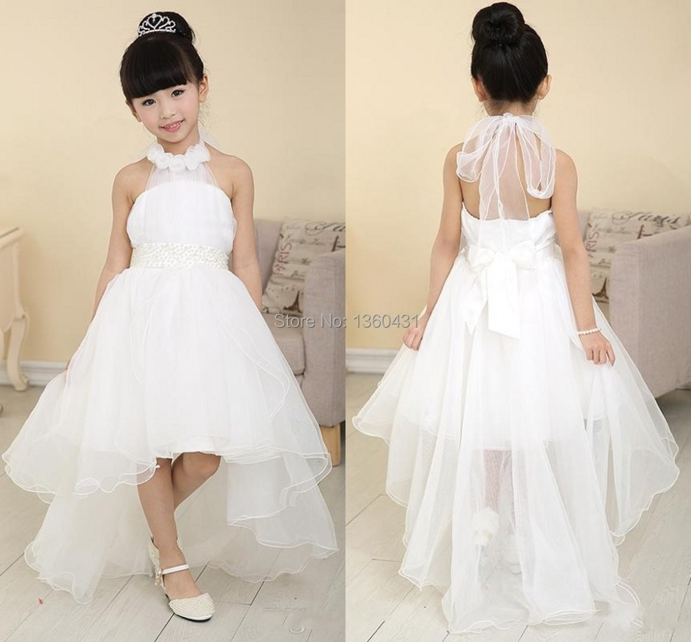 New Arrival beautiful flower girl dress for weddings halter floor ...