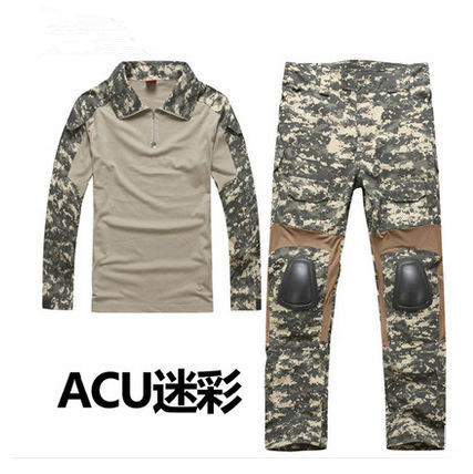 Men's Military Army Tactical Airsoft Combat Uniform Paintball Hunting SWAT Clothes Sets Gen2 Shirt & Elbow Pad Pants & Knee Pads