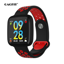 Купить с кэшбэком QAQFIT F15 Sport Smart Watch IP67 Waterproof Blood Pressure Oxygen Heart Rate Monitor Smartwatch Men Women For Android IOS Phone