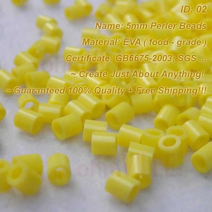 5 мм Perler Бусины(желтый-ID: 02) Hama Бусины, плавленого Бусины~ создать просто ни о чем~ Гарантировано качество