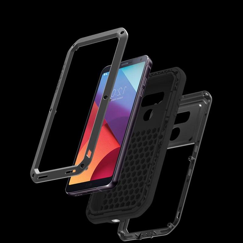 imágenes para Amor Mei Potente Caso Para LG G6 Híbrido de Metal Cubierta caso Impermeable de La Vida Caso Fundas Para LG Celular G6 teléfono
