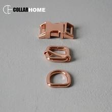 1 set plated metal adjustment belt buckle 5/8 15mm webbing d-ring for bag dog pet collar DIY accessories snap hook tri-glide