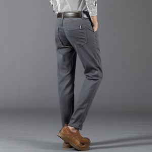 Image 5 - 6 Color Casual Pants Men 2020 Spring New Business Fashion Casual Elastic Straigh Trousers Male Brand Gray White Khaki Navy