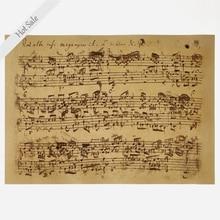 Vintage poster retro impresión pintura antiguo clásico hoja música nota Pared de salón pegatina impresión decoración del hogar 42x30cm ZJP-M156