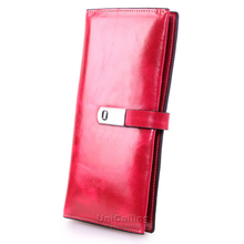 Fashion Genuine Leather Women Wallets Korean style Solid color Cow Leather Hasp Card Holder Top grade mini Long ladies Purse