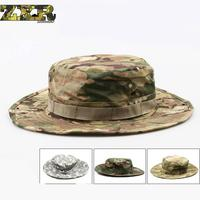 Tactical Airsoft Sniper Camouflage Boonie Hats Nepalese Cap Militares Army Mens Military Hiking Hats Summer Bucket Hat Fishing